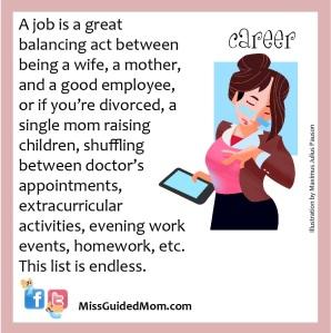 working mom, single, job, balancing act