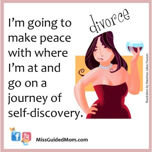 Make peace with where I'm at and go on a journey of self-discovery