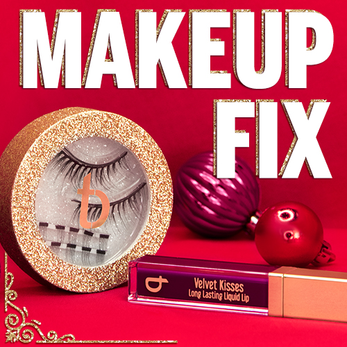 makeup fix bundle with lashes and lipgloss